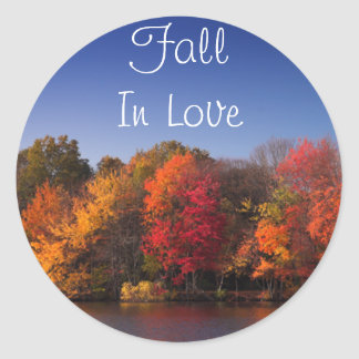 Fall Colors, Fall In Love Round Sticker