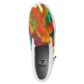 Fall colors forest printed shoes