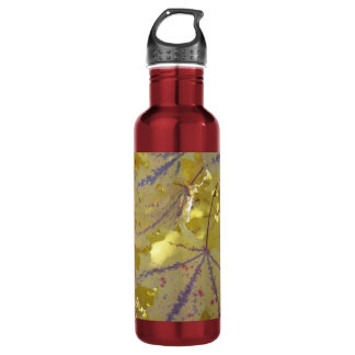 Fall colors- golden maple leafs 710 ml water bottle