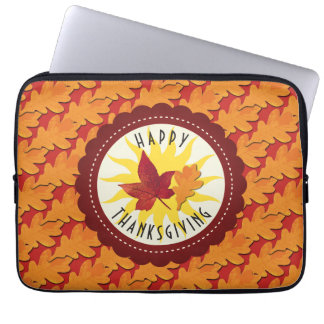 Fall Colors Happy Thanksgiving Laptop Sleeve