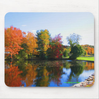 Fall colors in New York mousepad design