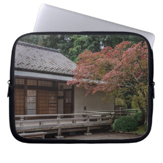 Fall colors in the garden laptop sleeve