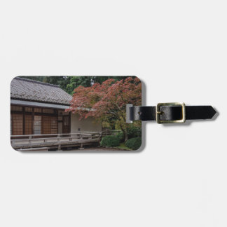 Fall colors in the garden luggage tag