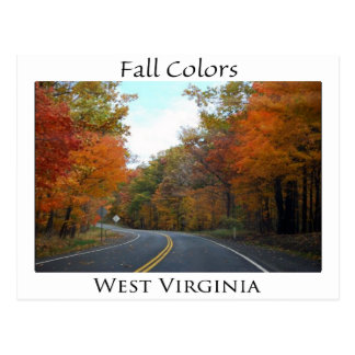 Fall Colors in West Virginia Postcard