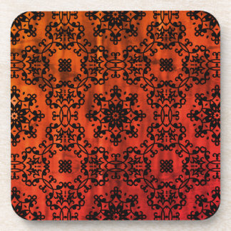 Fall colors kaleidoscope coaster