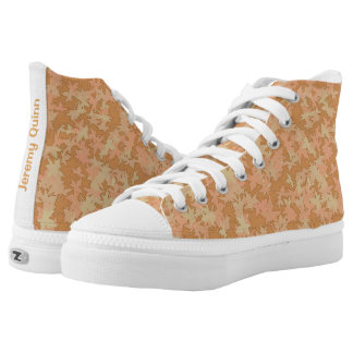 Fall Colors Leaf Camo Printed Shoes