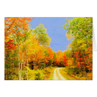Fall Colors Maine Card