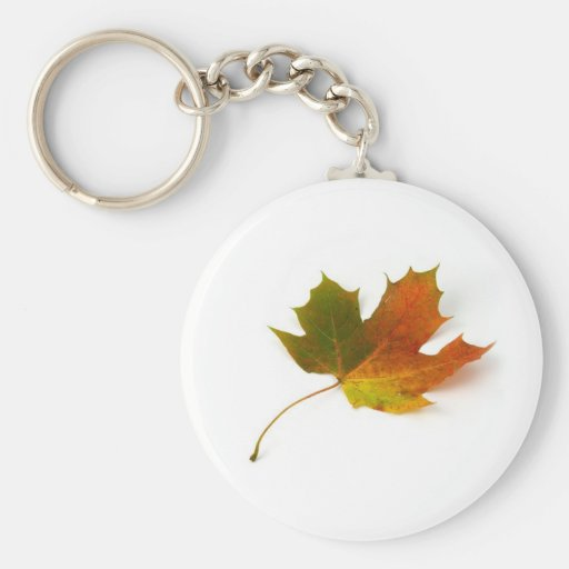 Fall Colors Maple Leaf Key Chain