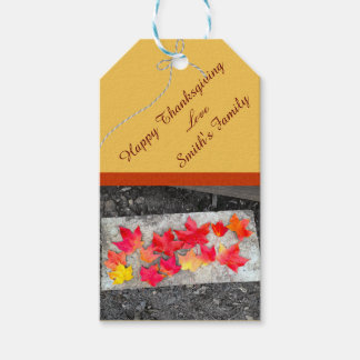 Fall Colors Maple Leaves Thanksgiving Gift Tag