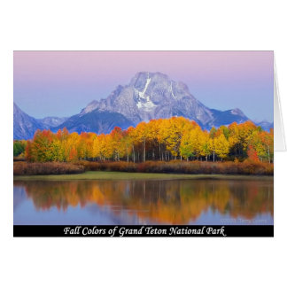 Fall Colors Of Grand Teton National Park Card