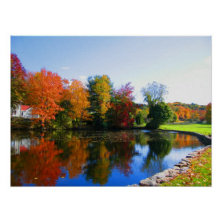 Fall colors of New York photography poster