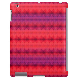Fall Colors Ombre Stripe pattern iPad Case
