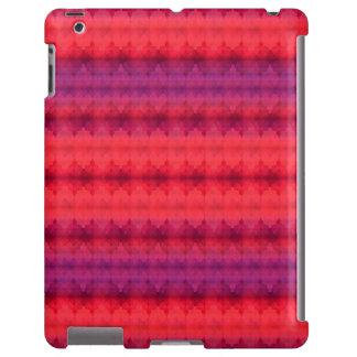 Fall Colors Ombre Stripe pattern iPad Case