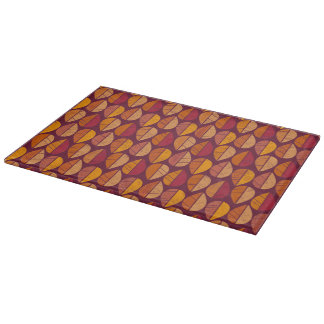 Fall Colors Pattern Cutting Board