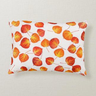 Fall Colors Quaking Aspen Leaf Prints Accent Cushion