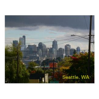 Fall Colors Seattle Postcard