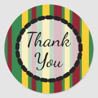Fall Colors Thank You  Stickers