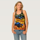 Fall Colour Leaves All-Over Print Racerback Top