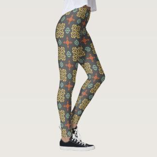 Fall Colour Pattern Leggings