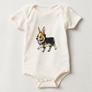 Fall Corgi Baby Bodysuit