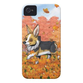 Fall Corgi iPhone 4 Cases