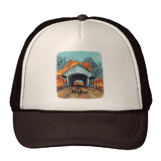 Fall Covered Bridge Trucker Hat