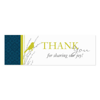 Fall Elegance TY Skinny Card Business Cards