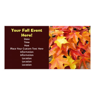 Fall Event custom Invitations Cards Events Leaves Picture Card