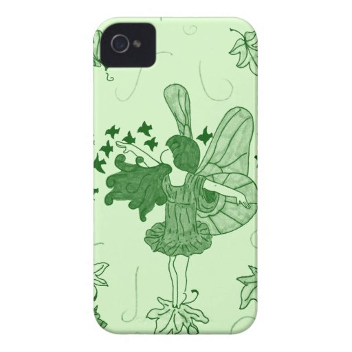 Fall Fairy Blackberry Case (Green) iPhone 4 Case-Mate Cases