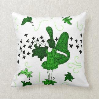 Fall Fairy Kids Throw Pillow (Green)