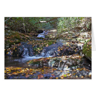 Fall Falls at Fires Creek Card
