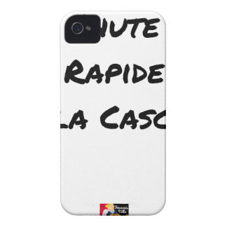 FALL FAST OF the CASCADE - Word games iPhone 4 Case