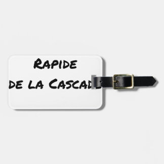 FALL FAST OF the CASCADE - Word games Luggage Tag