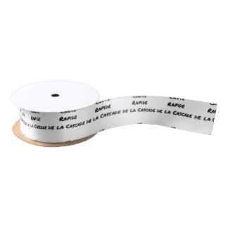 FALL FAST OF the CASCADE - Word games Satin Ribbon