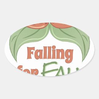 Fall Festivities Oval Sticker