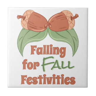 Fall Festivities Small Square Tile