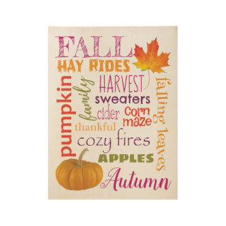 Fall Fling Wood Poster