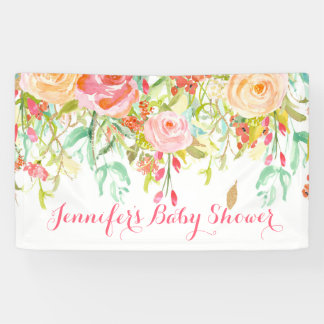 Fall Floral Baby Shower Banner
