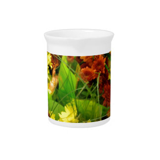 Fall Floral Bouquets Pitcher