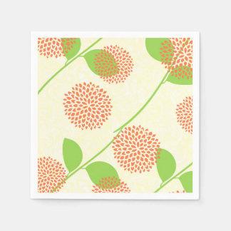 Fall Floral Disposable Serviette