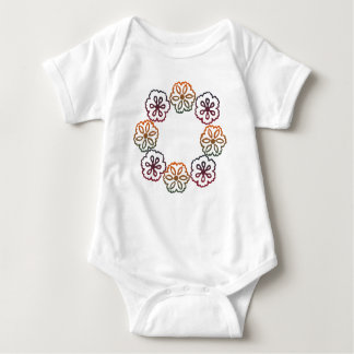 Fall Flowers Baby Bodysuit