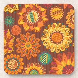 Fall Flowers Beverage Coasters