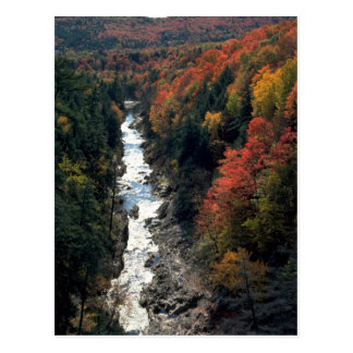 Fall foliage at Queechee Gorge, Queechee, Vermont, Postcard