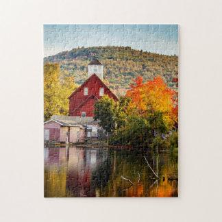 Fall Foliage Grist Mill Ashland New Hampshire Puzzles