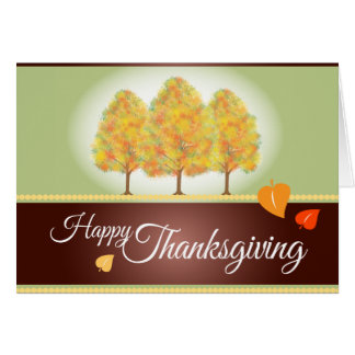Fall Foliage Happy Thanksgiving Greeting Cards