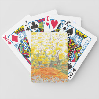 Fall Foliage in Adlershof Bicycle Playing Cards