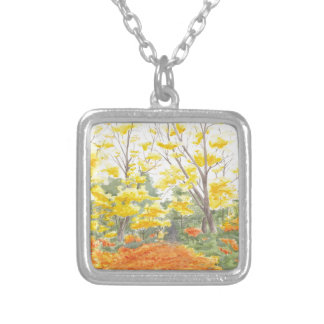 Fall Foliage in Adlershof Silver Plated Necklace