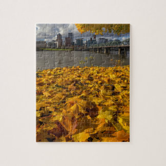 Fall Foliage in Portland Oregon City Jigsaw Puzzle