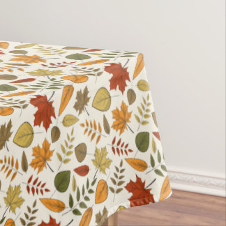 Fall Foliage Leaves Thanksgiving Party Tablecloth