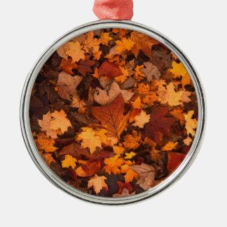 Fall-foliage Metal Ornament